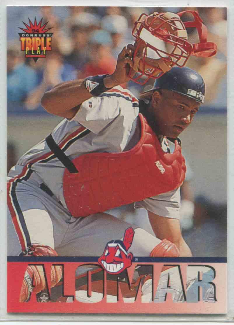 1994 Donruss Triple Play Sandy Alomar Jr 111 On Kronozio