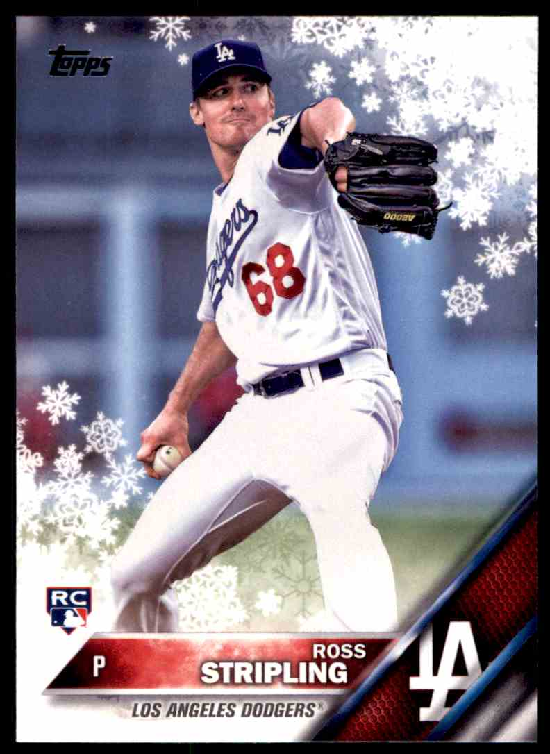 2016 Topps Holiday Snowflake Ross Stripling, Los Angeles Dodgers RC #HMW173 card front image