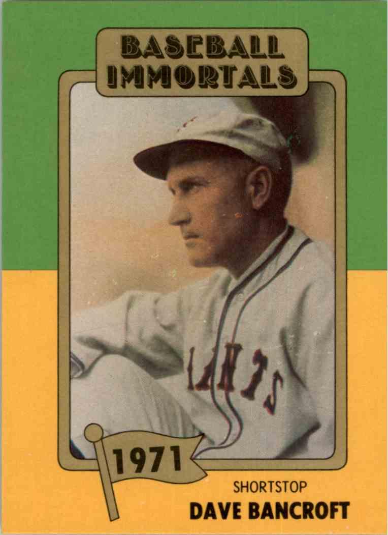 1980 Baseball Immortals 1st Printing Dave Bancroft 119
