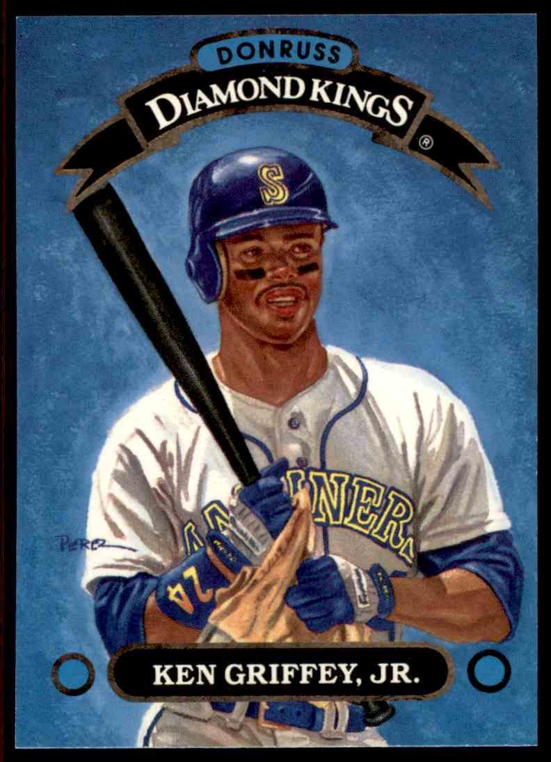 3f01c86fd7 1992 Donruss Ken Griffey JR. Diamond Kings SP #DK-1 card front image