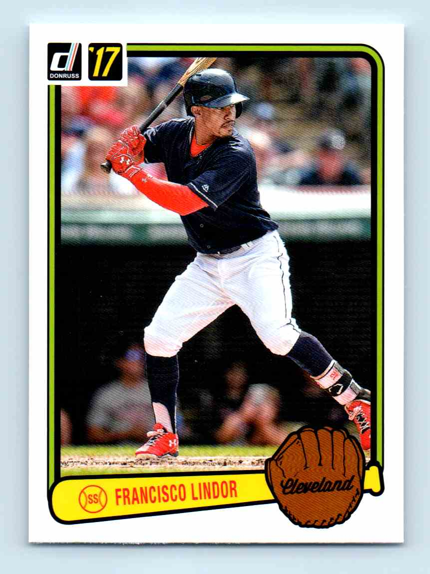 2017 Panini Donruss Retro 1983 Francisco Lindor Rv 10 On Kronozio