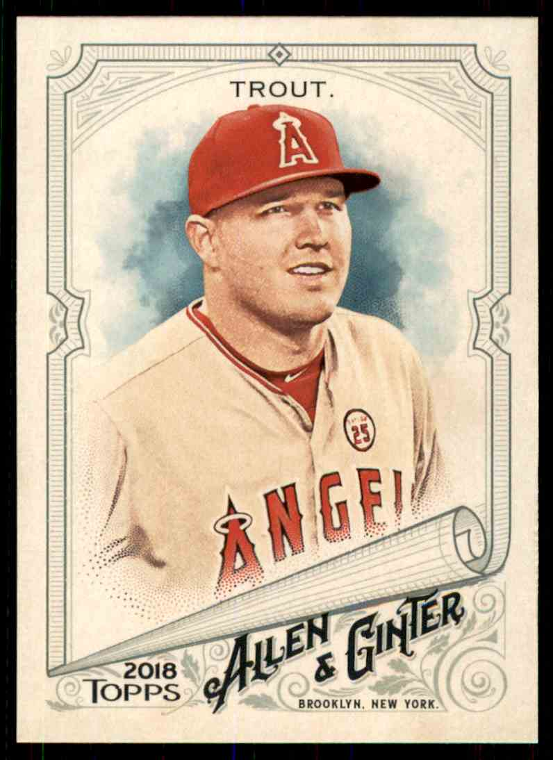 2018 Topps Allen & Ginter Mike Trout #1 card front image