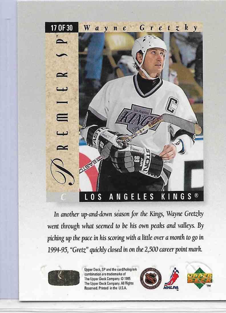 1995-96 SP Premier Wayne Gretzky #17 card back image