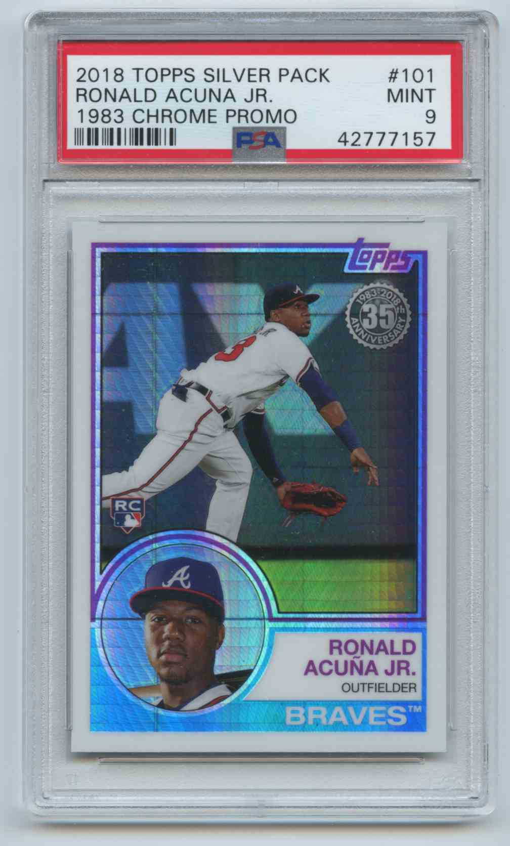 2018 Topps Chrome Silver Pack 1983 Ronald Acuna Jr 101