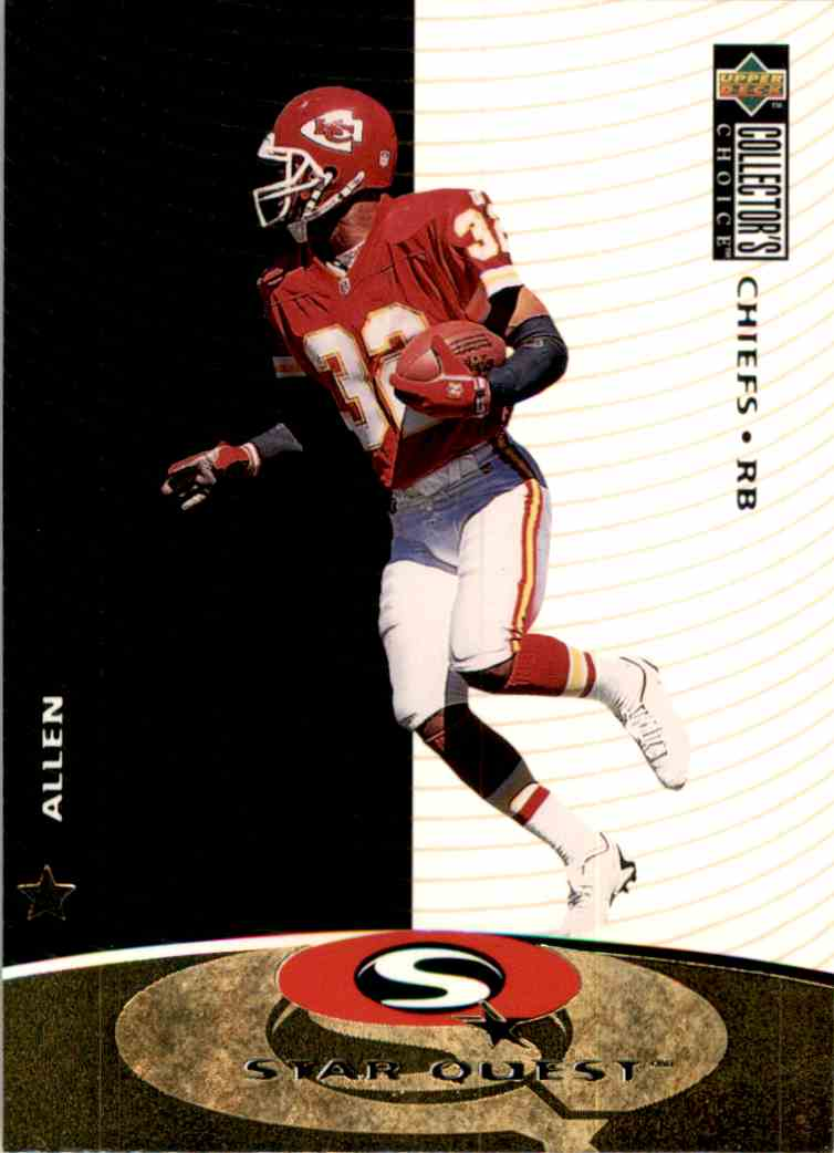 1997 Collector's Choice Star Quest Marcus Allen #SQ37 card front image