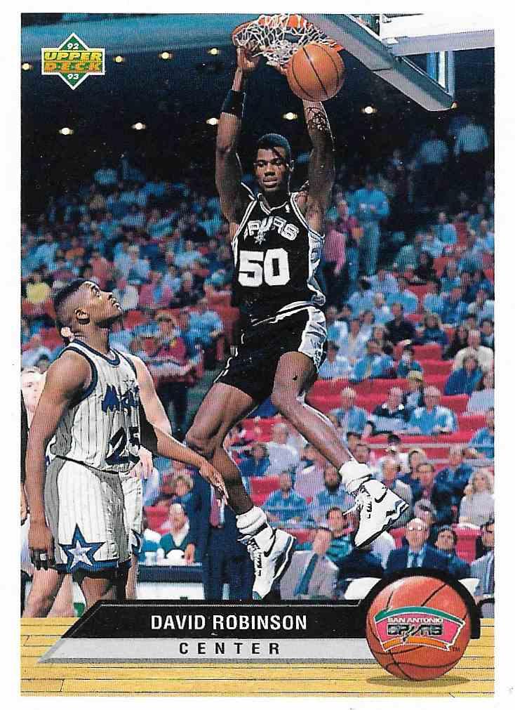 1993-94 Upper Deck McDonald David Robinson #P37 card front image