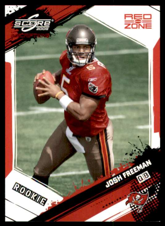 2009 Score Inscriptions Red Zone Josh Freeman #358 card front image