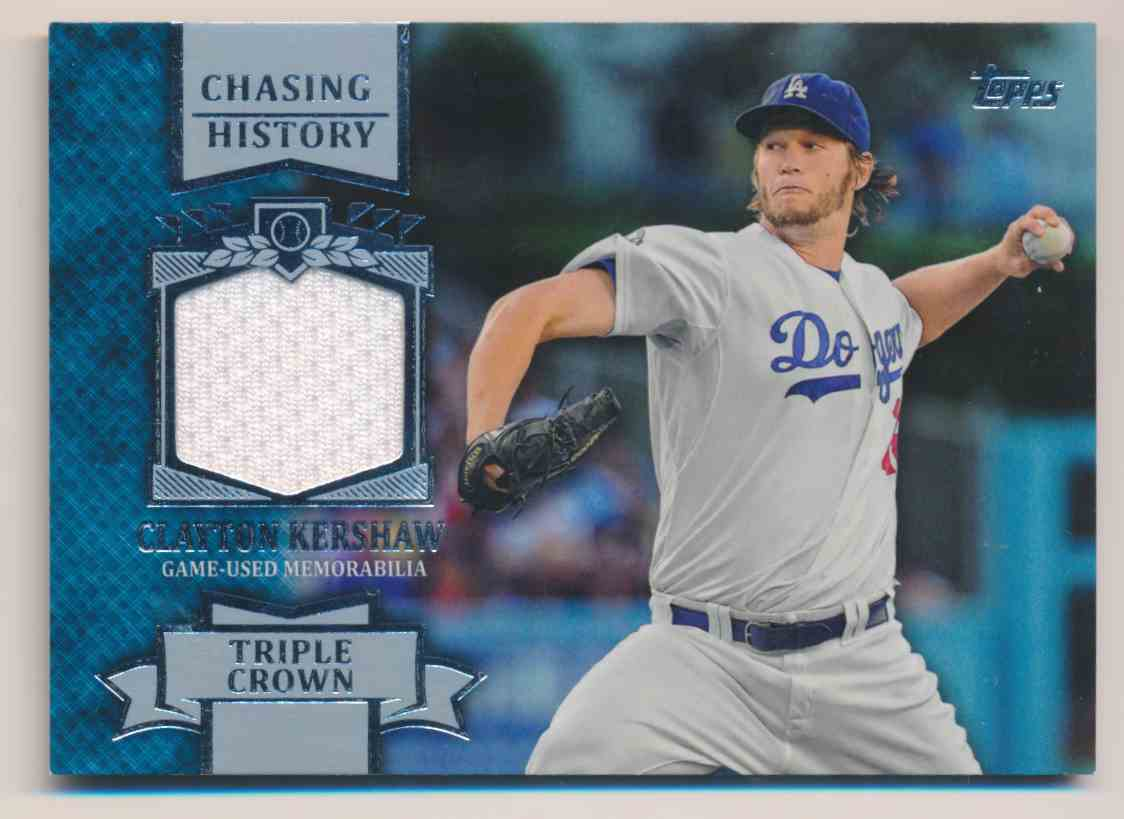 2013 Topps Chasing History Clayton Kershaw card front image