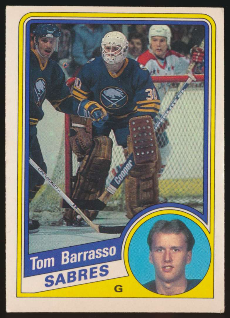 1984-85 OPC Tom Barrasso #18 card front image