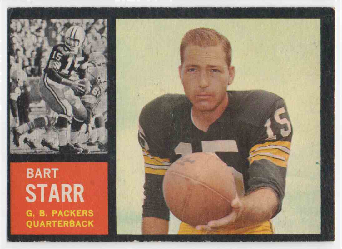 1962 Topps Bart Starr #63 card front image