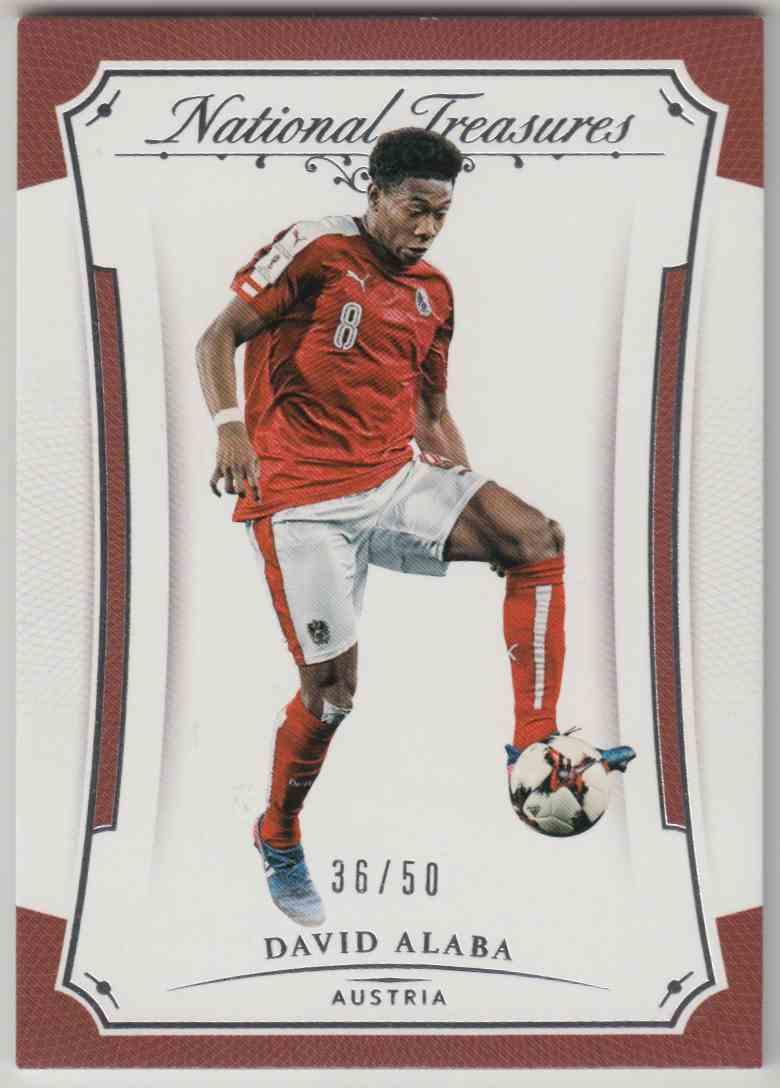 2018 National Treasures Soccer Base David Alaba #31 card front image