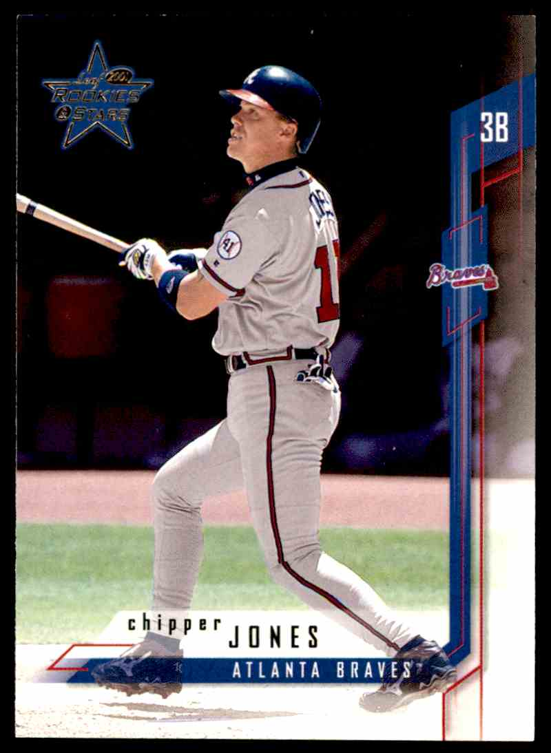 2001 Leaf Rookies Amp Stars Chipper Jones 10 On Kronozio