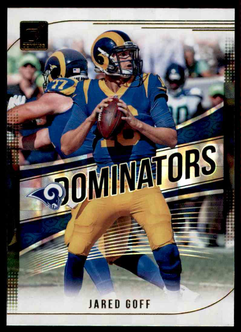 2018 Donruss Dominators Jared Goff #D-7 card front image