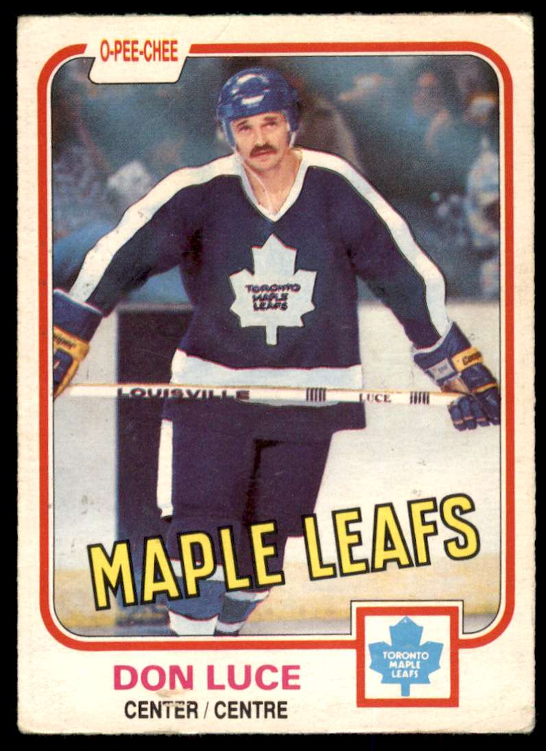 1981-82 OPC Don Luce #147 card front image