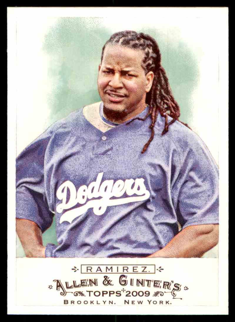 2009 Topps Allen Ginter Manny Ramirez 17 Card Front Image