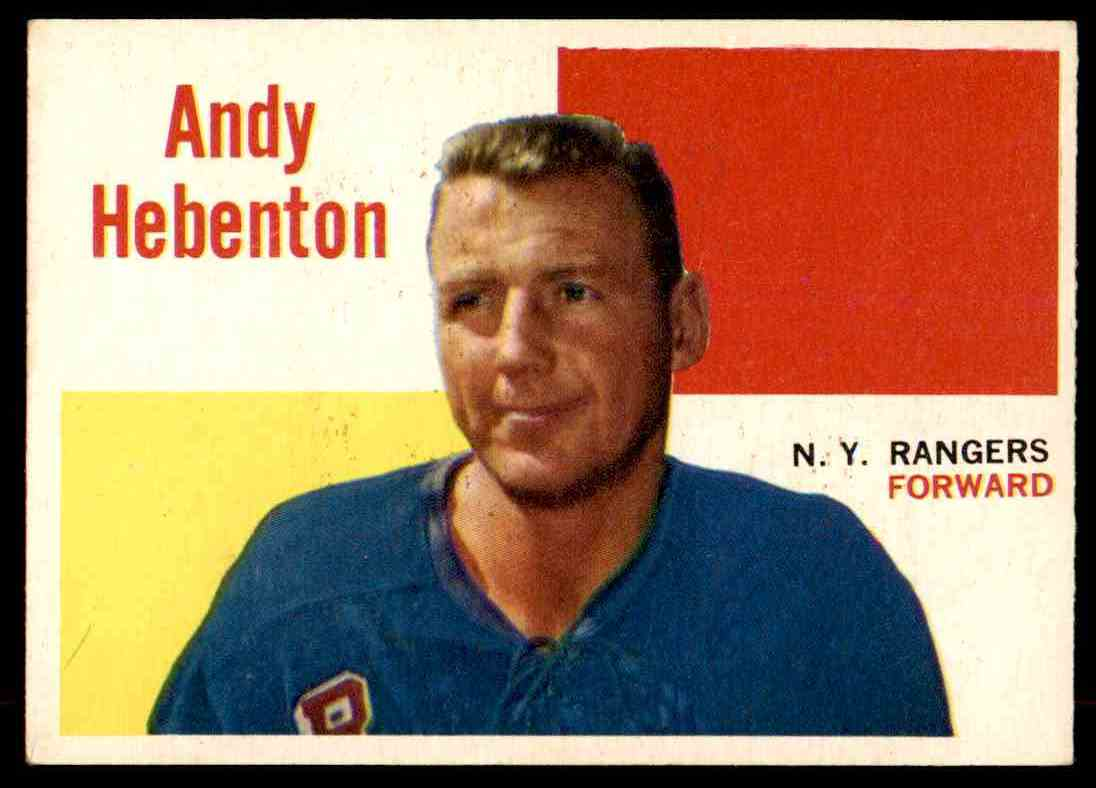 1960-61 Topps Andy Hebeton #42 card front image