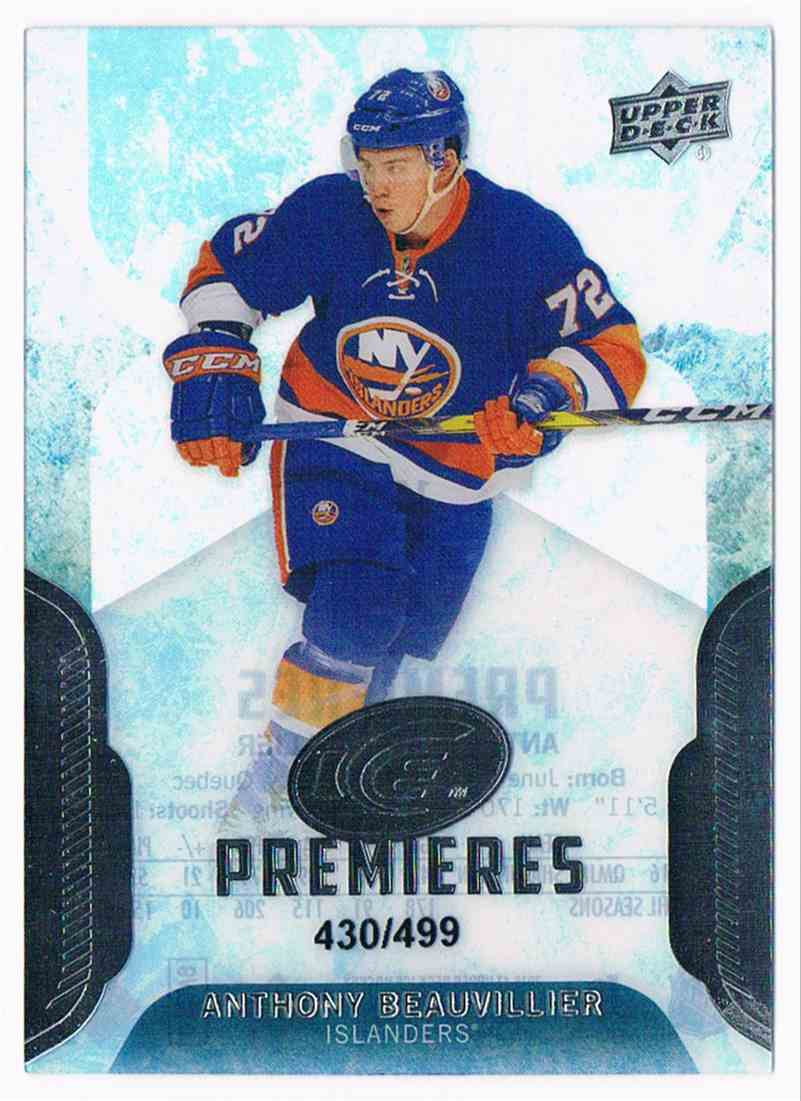 2016-17 Upper Deck Ice Premieres Anthony Beauvillier #174 card front image