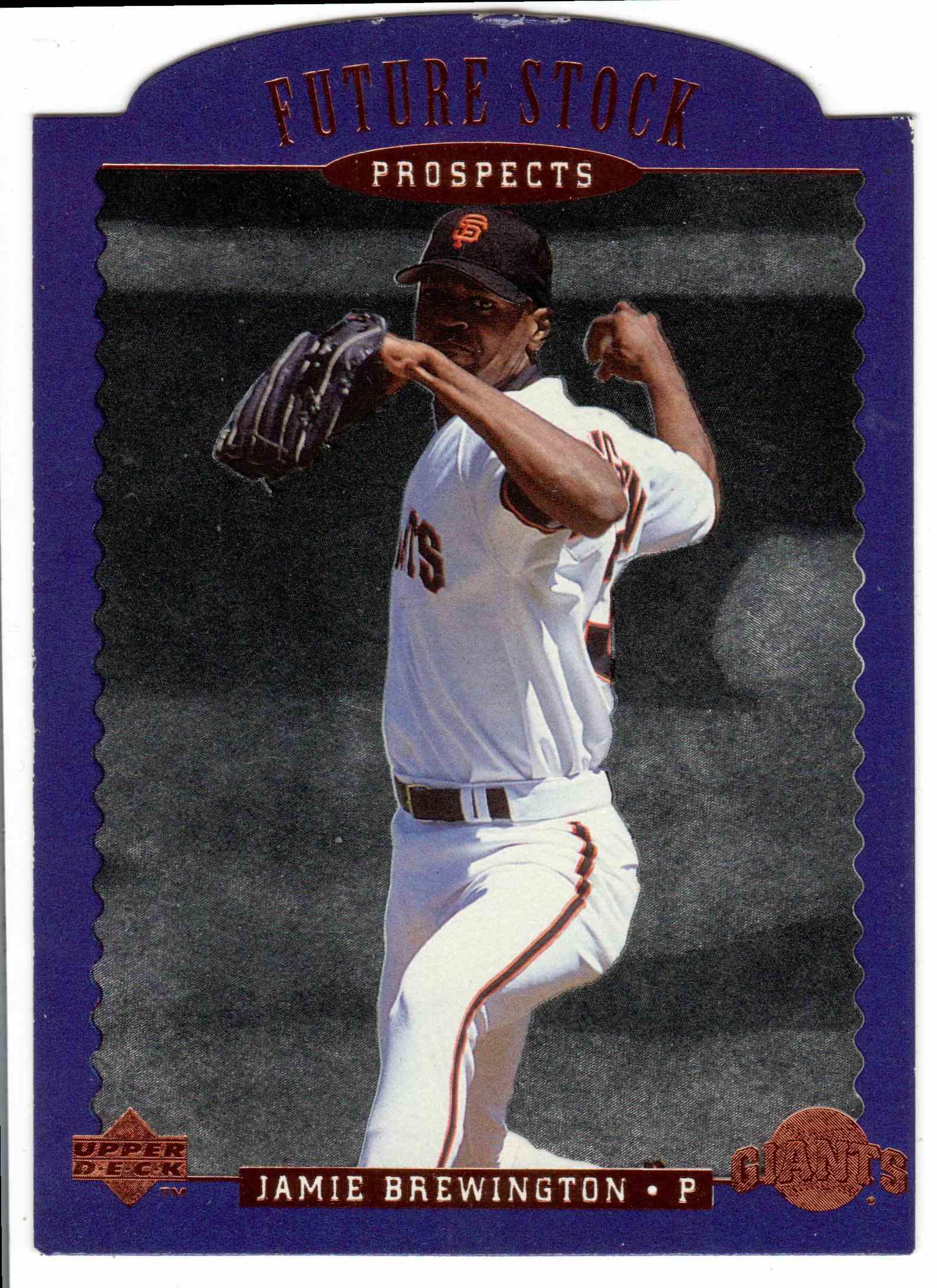 1996 Upper Deck Jamie Brewington #FS5 card front image