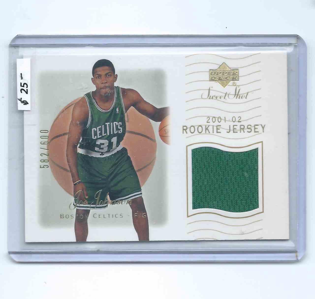 2001-02 Upper Deck Sweet Shot Rookie Jerseys Joe Johnson #114 card front image