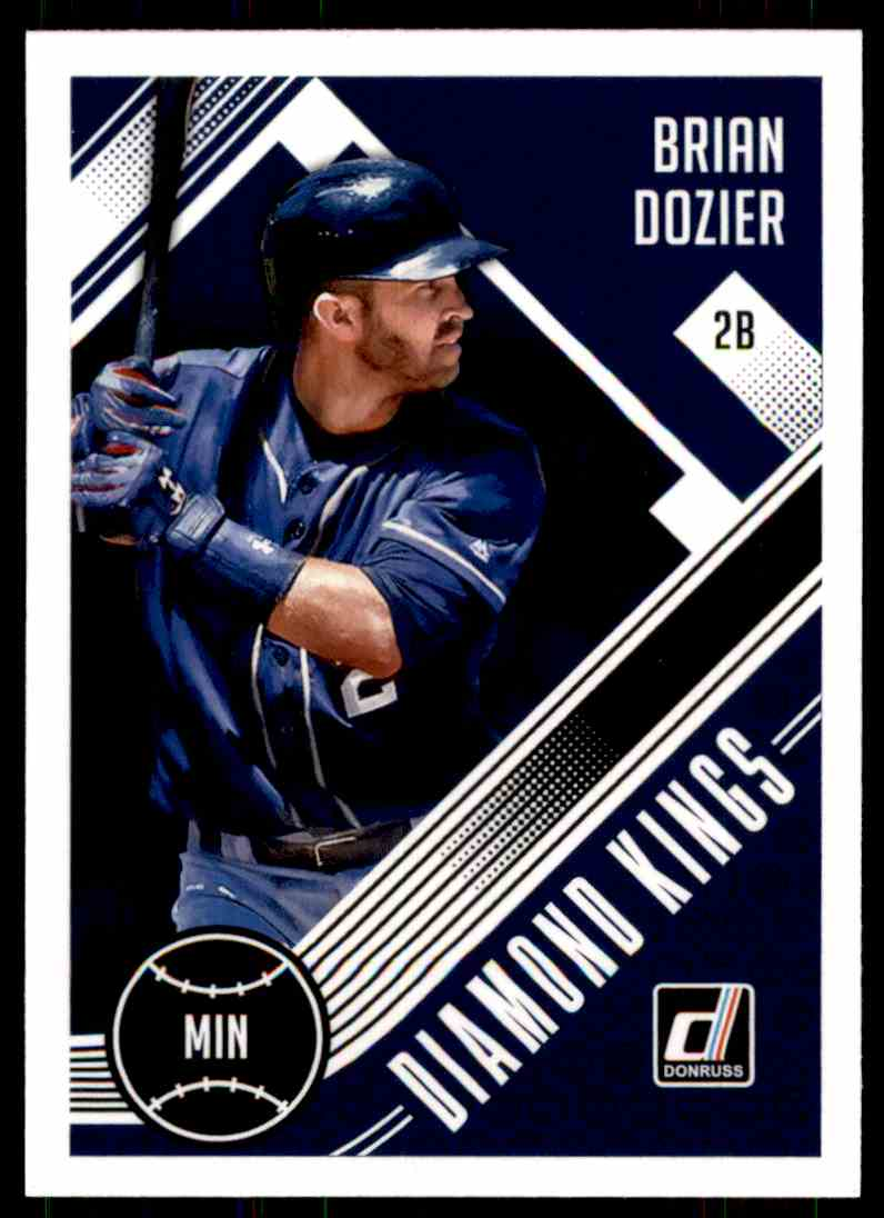 2018 Donruss Diamond Kings Brian Dozier #17 card front image