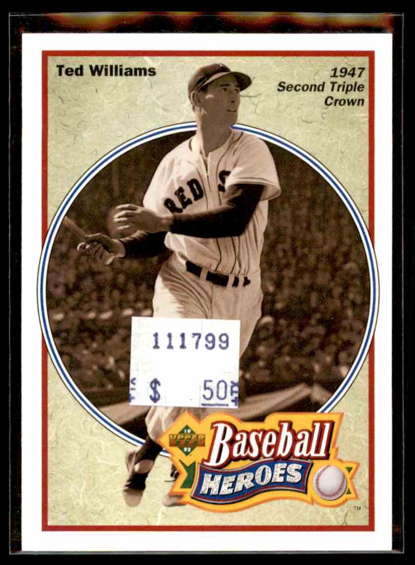 1992 Upper Deck Baseball Heroes Ted Williams 32 On Kronozio