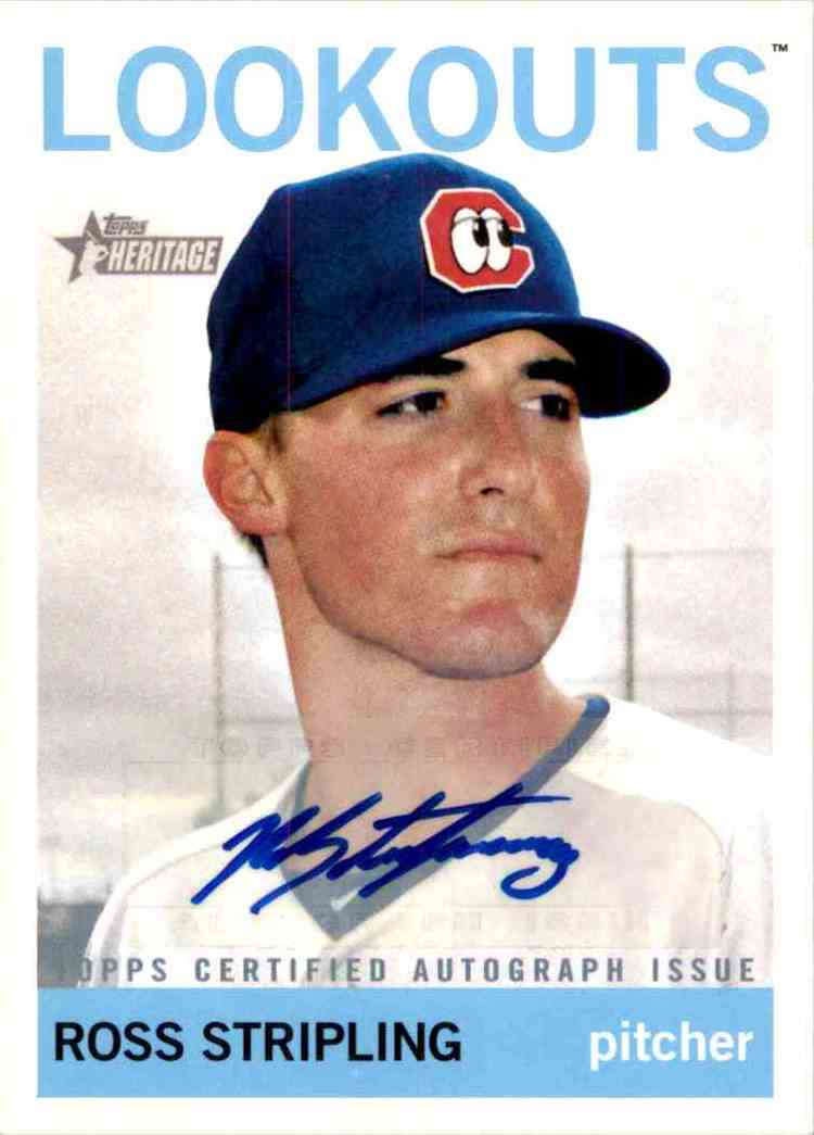 2013 Topps Heritage Minors Real One Autographs Ross Stripling #RS card front image