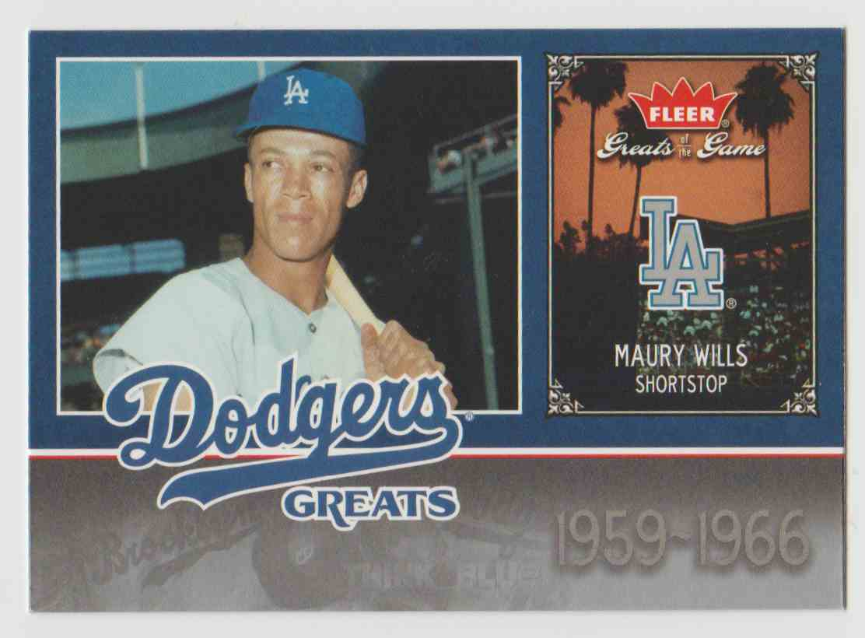 2006 Fleer Greats Of The Game Dodgers Greats Maury Wills Lad