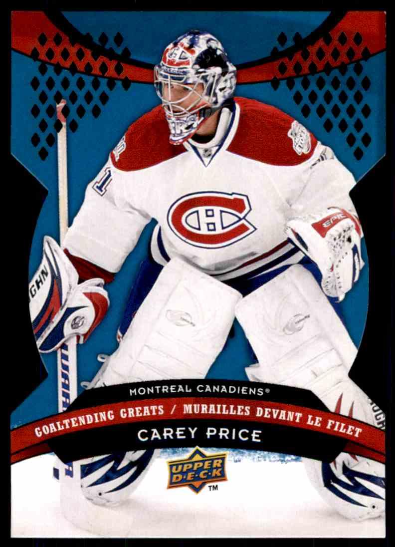 2009-10 McDonald's Upper Deck Goaltending Greats Carey Price #GG1 card front image