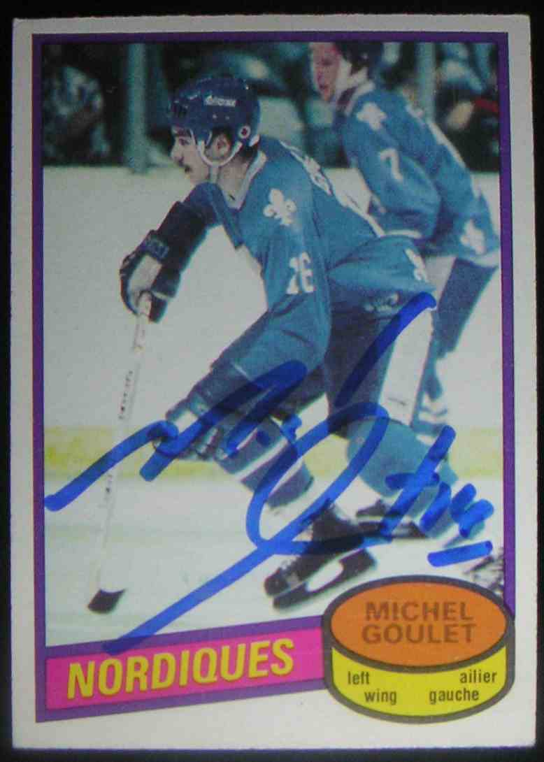 1980-81 O-Pee-Chee Michel Goulet #67 card front image