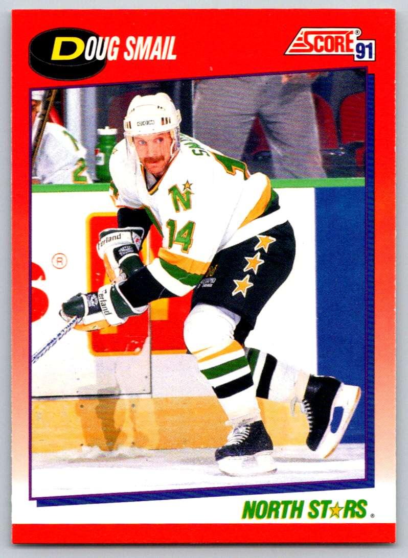 1991-92 Score Canadian Bilingual Doug Smail #12 card front image