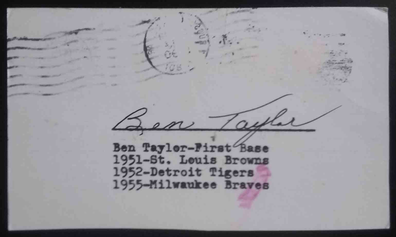1951 3X5 Ben Taylor card front image