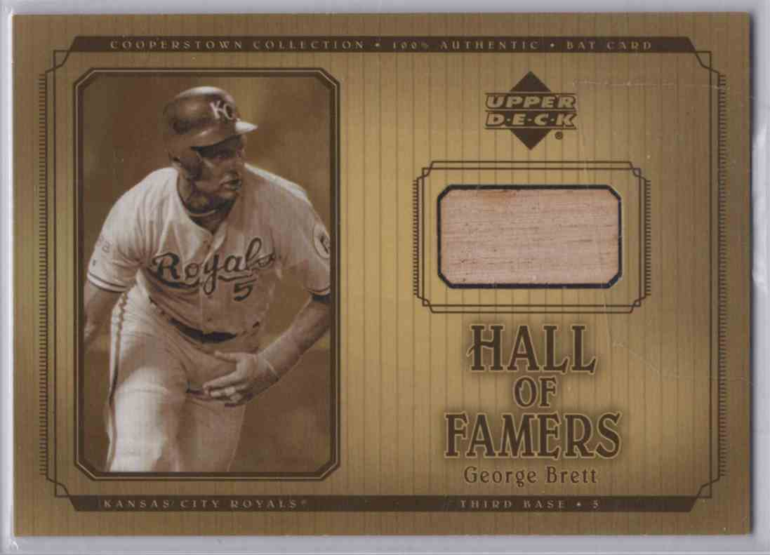 2001 Upper Deck Hall Of Famers Game Bat George Brett #BGB card front image