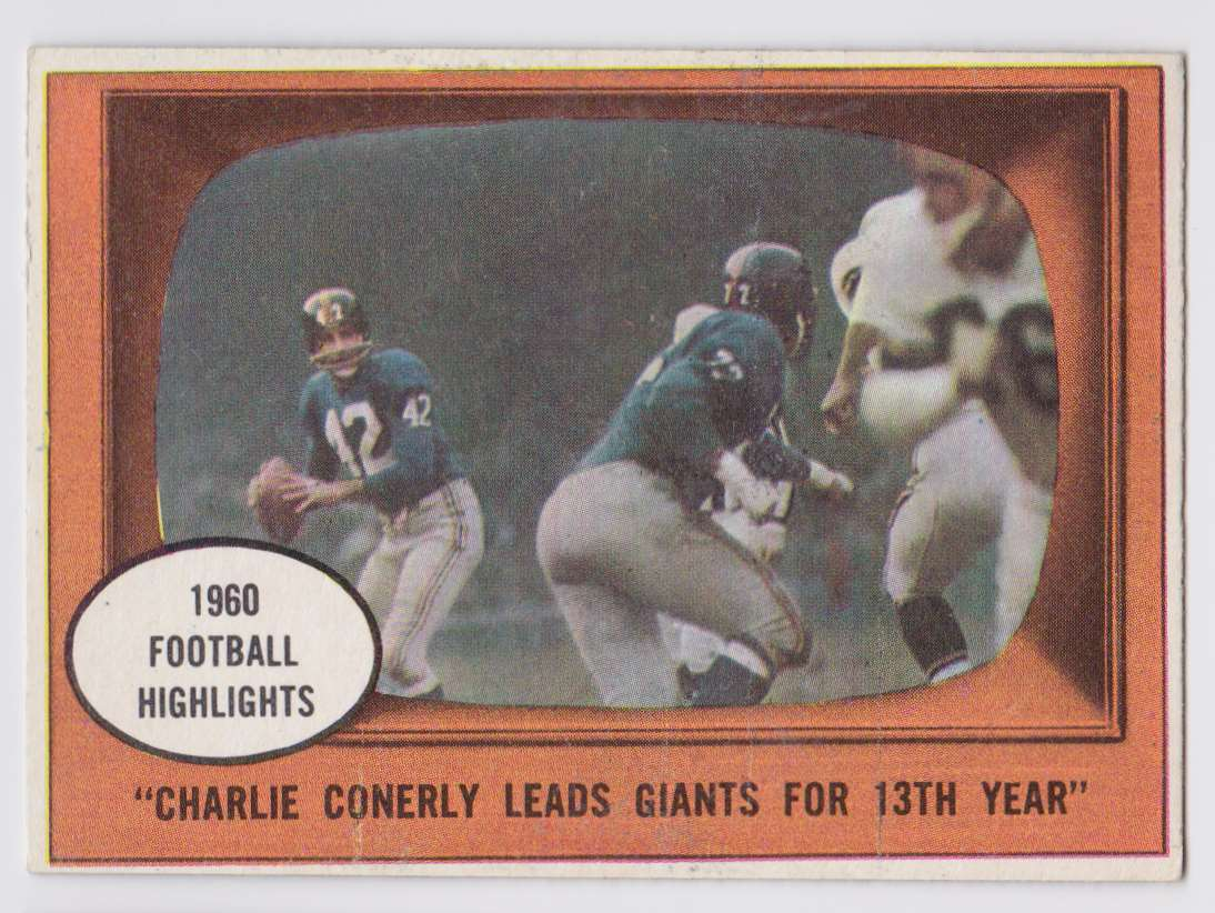 1961 Topps Charley Conerly #94 card front image