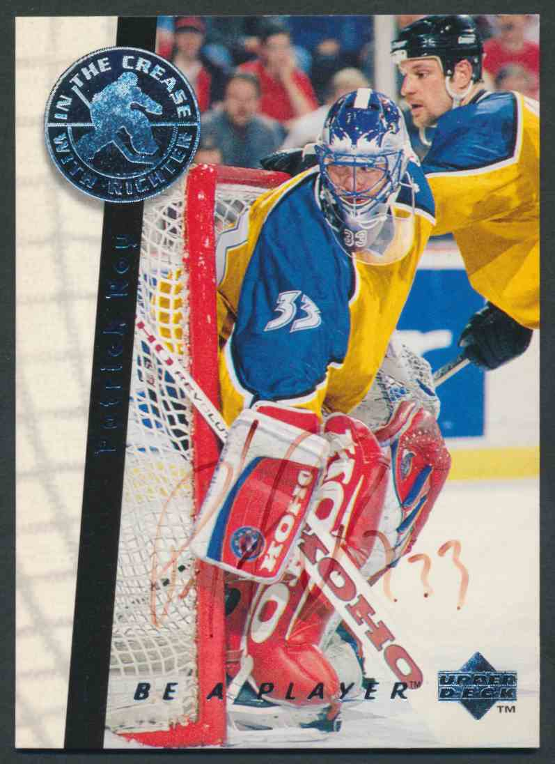 1995-96 Upper Deck Be A Player Patrcik Roy #S197 card front image