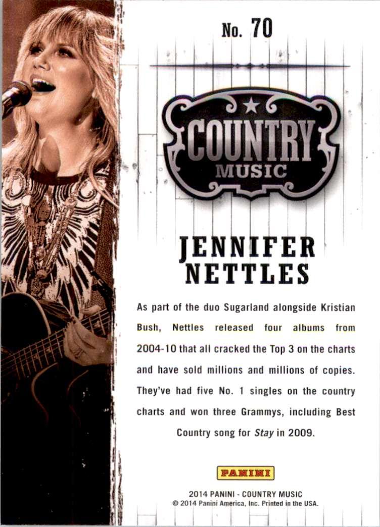 2015 Country Music Retail Jennifer Nettles #70 card back image