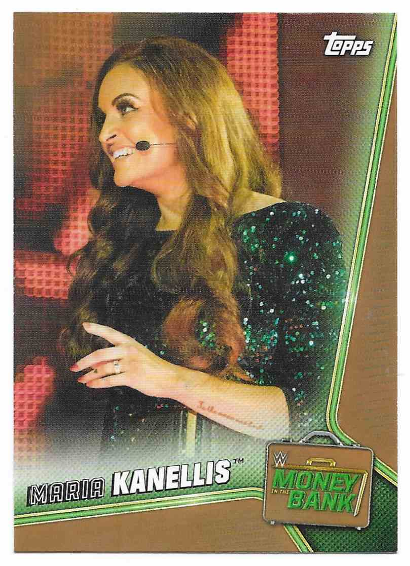 2019 Topps Wwe Money In Then Bank Bronze Maria Kanellis #52 card front image