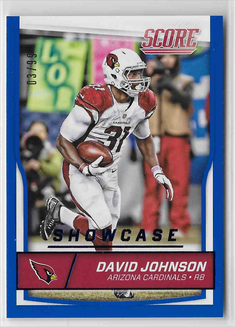 promo code 08c35 3c980 Details about 2016 Score Showcase David Johnson 3/99 Arizona Cardinals #3