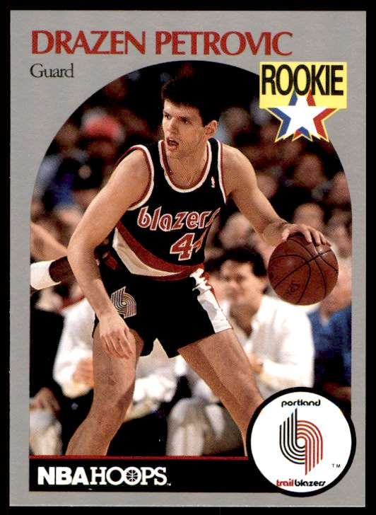 1990-91 NBA Hoops Drazen Petrovic #248 card front image