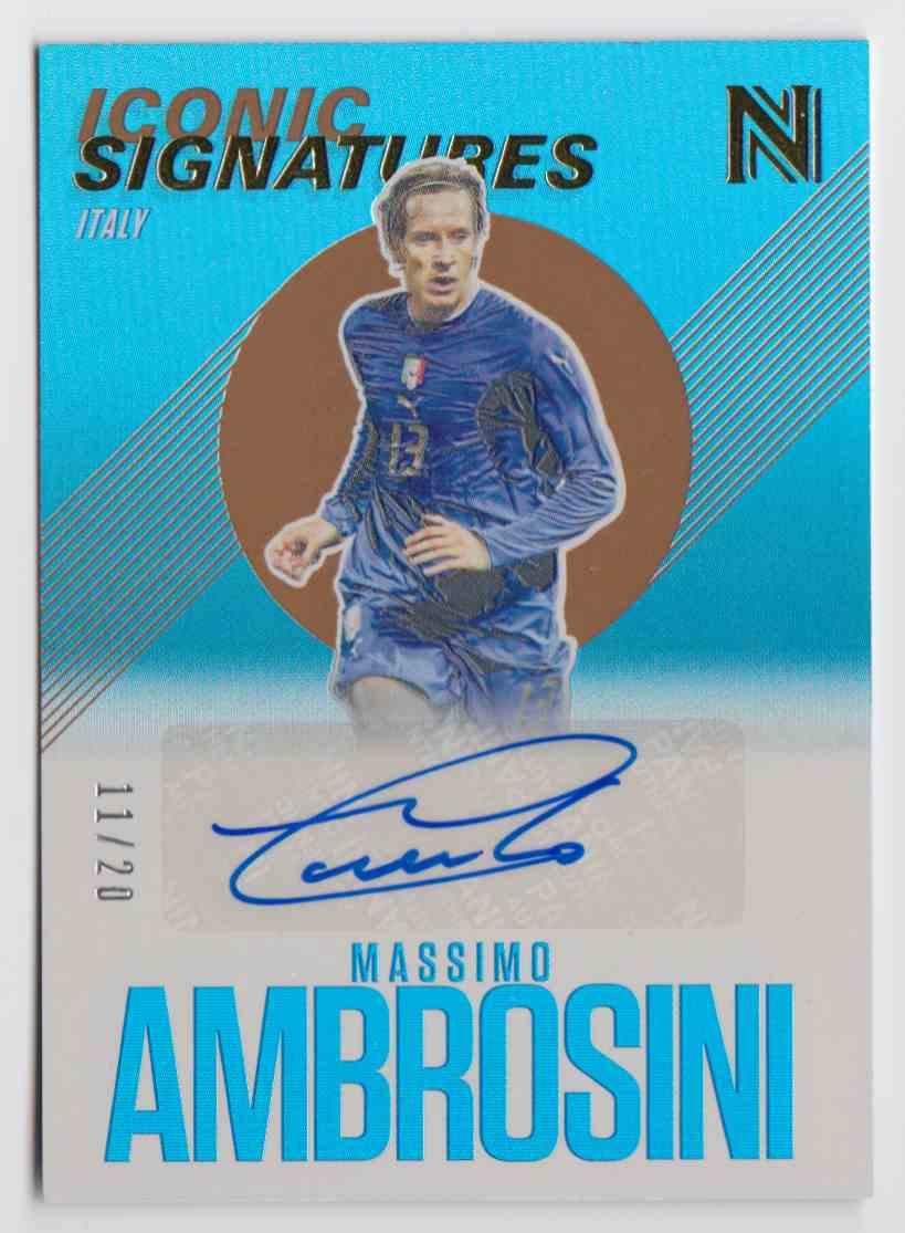 2017 Panini Nobility Iconic Signatures Bronze Massimo Ambrosini #IS-MAM card front image
