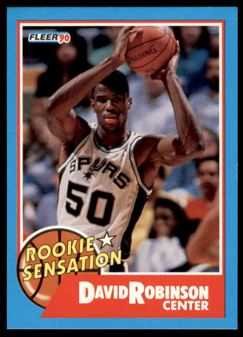 1990 91 Fleer Rookie Sensation David Robinson 1 On Kronozio