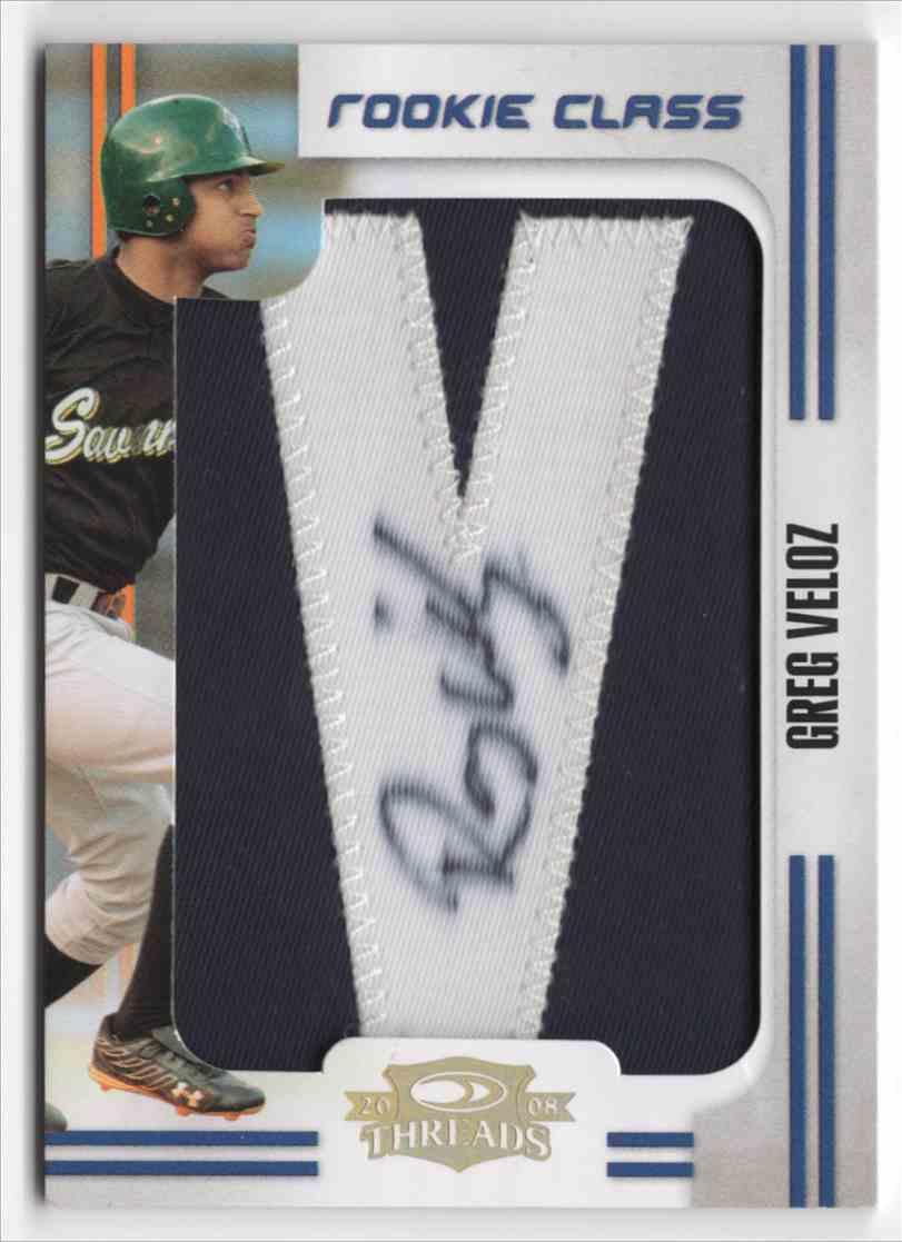 2008 Donruss Threads Greg Veloz #165 card front image