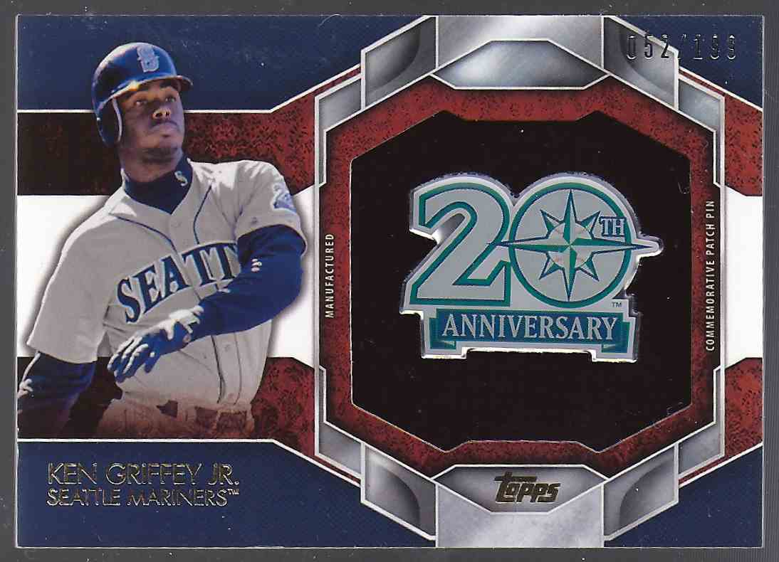 2015 Topps Commemorative Patch Pins Ken Griffey JR. #CPP01 card front image