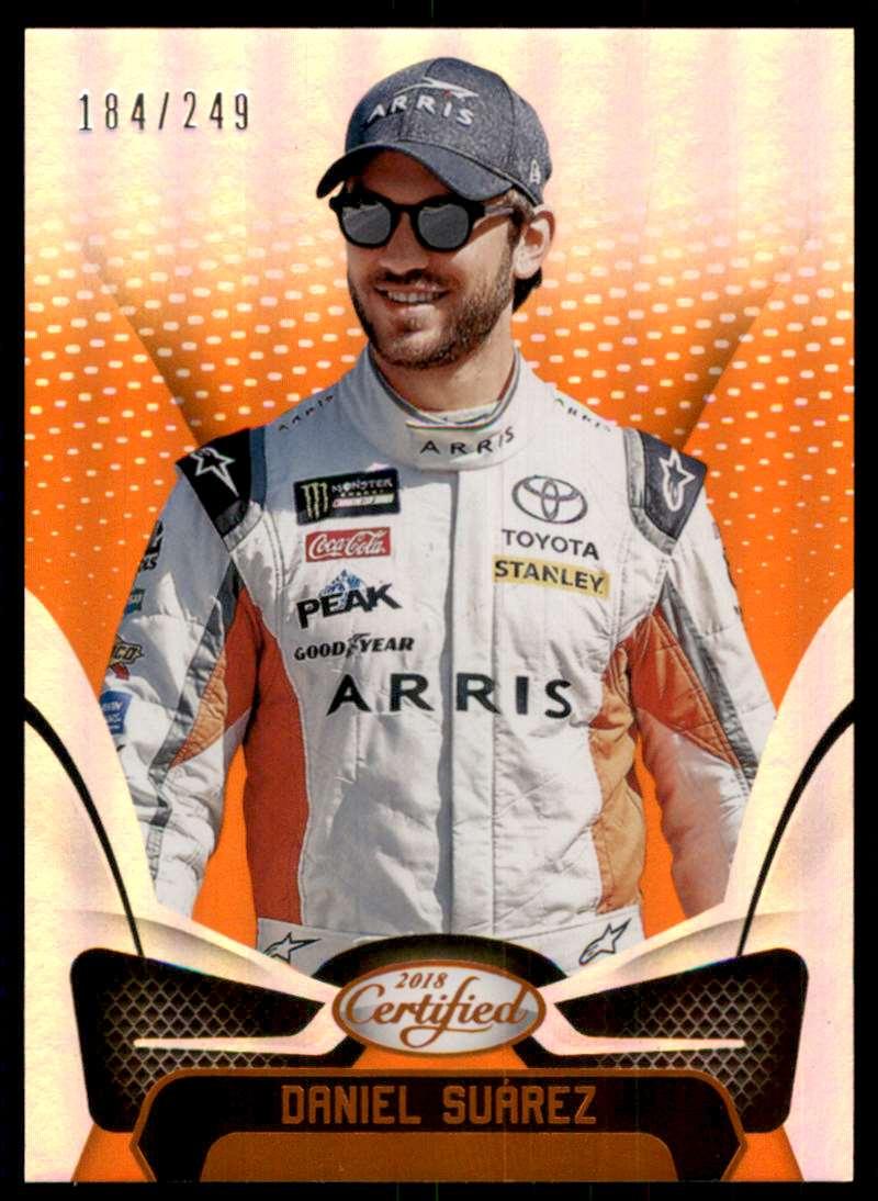 2018 Certified Orange Daniel Suarez #51 card front image