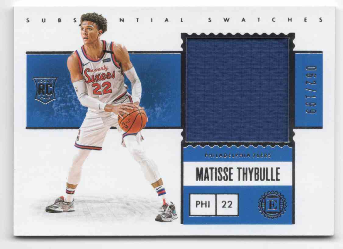 2019-20 Panini Encased Substantial Swatches Rookies Matisse Thybulle #23 card front image