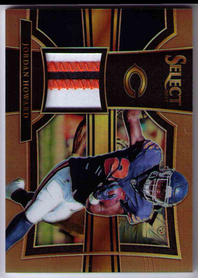 2017 Select Swatches Prizm Copper 3 Color Patch Jordan Howard #38 card front image