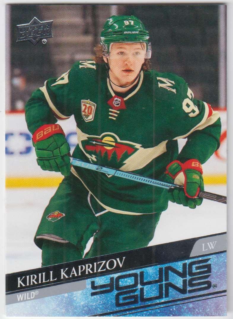 2020-21 upper deck kirill kaprizov #451 card front image