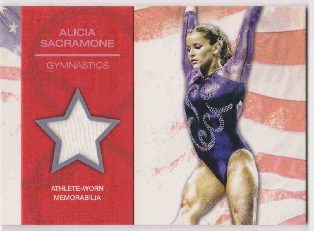 2012 Topps U.S. Olympic Team Relic Alicia Sacramone #OR-AS card front image