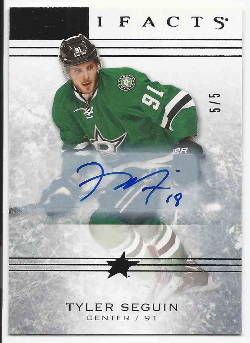 2014-15 Artifacts Black Tyler Seguin #39 card front image