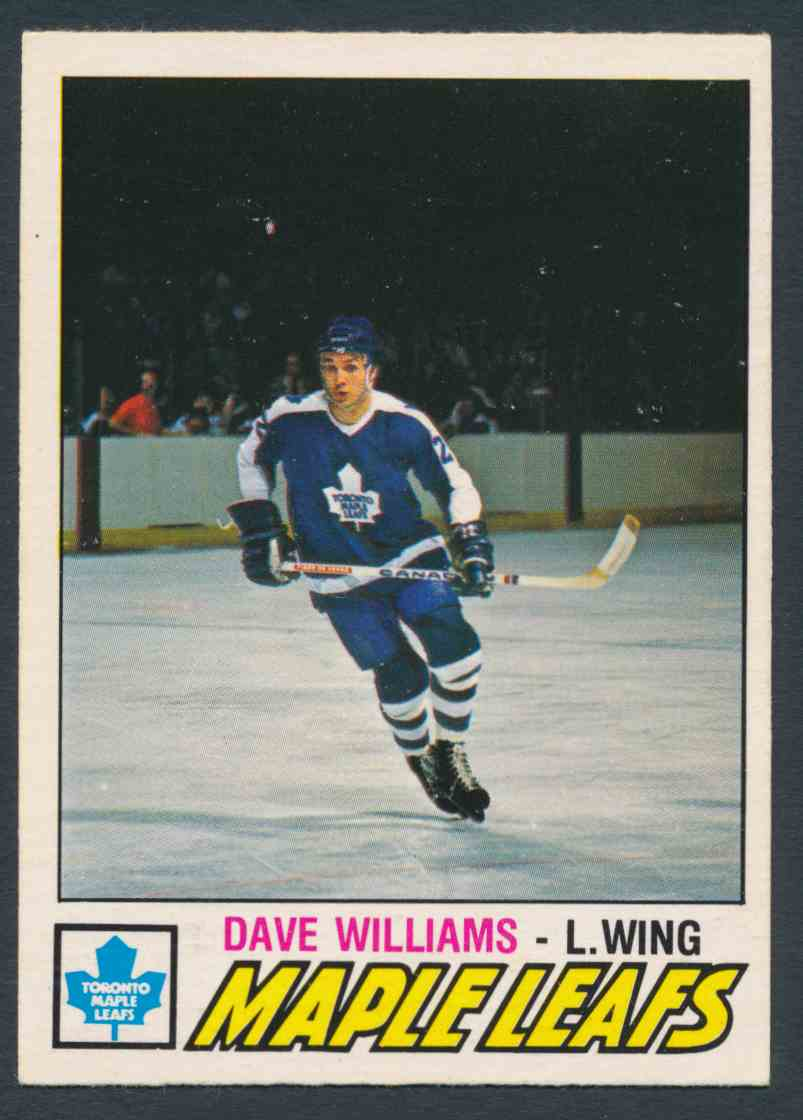 1977-78 O-Pee-Chee Dave Williams #383 card front image