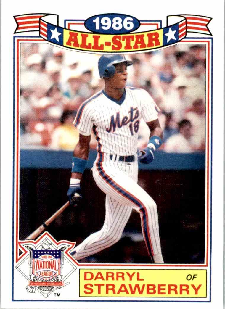 1987 Topps Darryl Strawberry 8 Of 22 On Kronozio